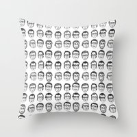 boyfriend Throw Pillows featuring The Boyfriend by Anna Cannuzz