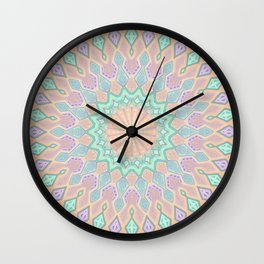 Crystal Magic - Mandala Art Wall Clock