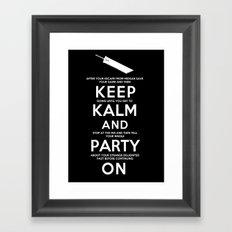 Final Fantasy 7: Keep Kalm Framed Art Print