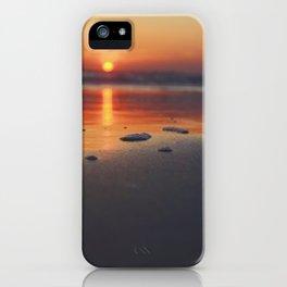 Sandy Sunset- #landscape #beach #photography iPhone Case