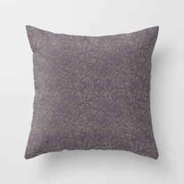 Butterfly Blossom Purple Throw Pillow