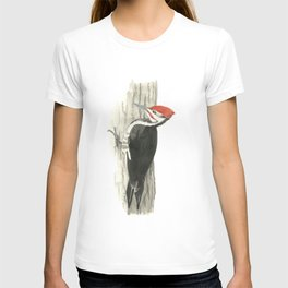Pileated Woodpecker - Watercolor T-shirt