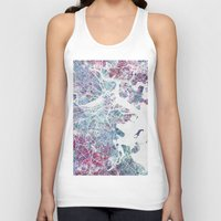 boston Tank Tops featuring Boston map by MapMapMaps.Watercolors