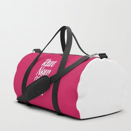 Run Now, Wine Later Funny Running Quote Duffle Bag