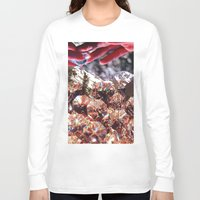 crystals Long Sleeve T-shirts featuring Crystals by Collage Heaven