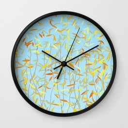 Bunnies, Trees and Falling Leaves Wall Clock