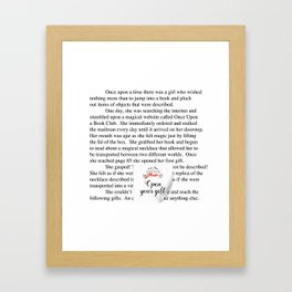 Once Upon a Book Club Framed Art Print