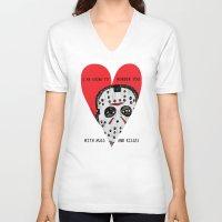 dramatical murder V-neck T-shirts featuring Murder Love by JARHUMOR