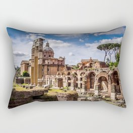 Roman Ruins Rectangular Pillow