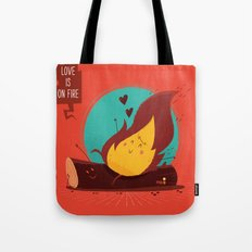 :::Love is on the fire::: Tote Bag