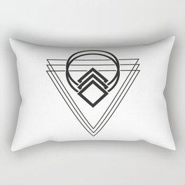 Triple Triangle Rectangular Pillow