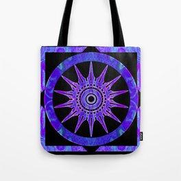 Starlit Purple Nights Abstract Mandala Artwork Tote Bag