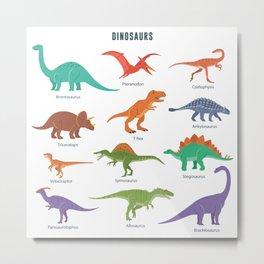 Dinosaurs set Metal Print