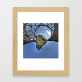 Fremont Bridge Tiny Planet Framed Art Print
