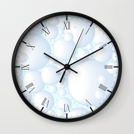 Air Bubbles Wall Clock