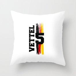 Seb 5 Germany Retro Throw Pillow