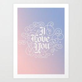 3 Little Words Art Print