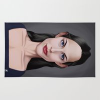 tyler spangler Area & Throw Rugs featuring Celebrity Sunday ~ Liv Tyler by rob art | illustration