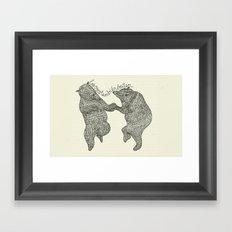 bears do dance! Framed Art Print