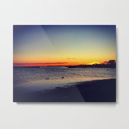 Long Island Sunset Metal Print