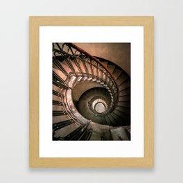 Spiral brown staircase Framed Art Print