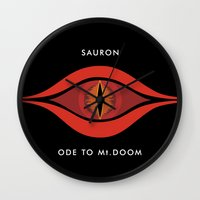 Ode To Mt. Doom Wall Clock