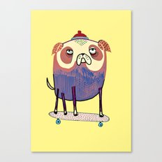 Pug Dude. Canvas Print