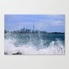 Windy Day at the Lake  Canvas Print