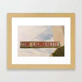 Coin Laundry. Framed Art Print