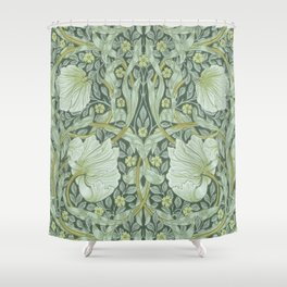 William Morris, Art nouveau pattern, beautiful art work, fabric pattern, belle époque,victorian,flor Shower Curtain