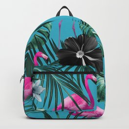 Tropical Flamingo Flower Jungle #1 #tropical #decor #art #society6 Backpack