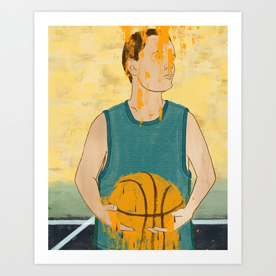 Losing my love for basketball Art Print