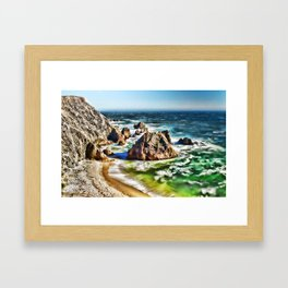 Amazing Surge Patterns in the Surf at Point Reyes, Calfornia Framed Art Print