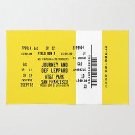 Concert Ticket Stub - Journey at AT&T Park Rug