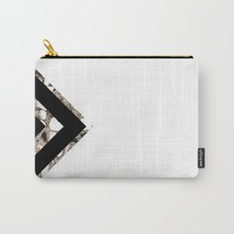 Geometric Black Diamond Carry-All Pouch