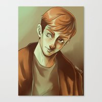 kieren walker Canvas Prints featuring In the Flesh - Kieren Walker by SandraG.N.