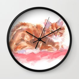 Ginger Girl Wall Clock