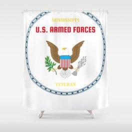 Mississippi U.S. Armed Forces Veteran Shower Curtain