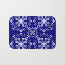 Baroque style blue texture/background Bath Mat