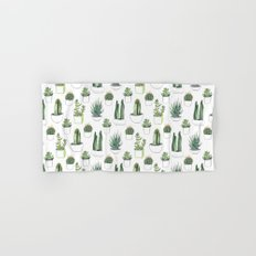 watercolour cacti and succulent Hand & Bath Towel