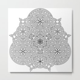 Balanced Flowering Hexad Metal Print
