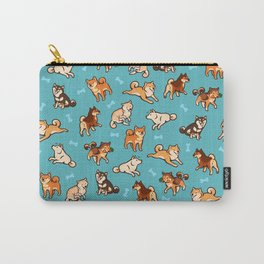 shibas in blue Carry-All Pouch
