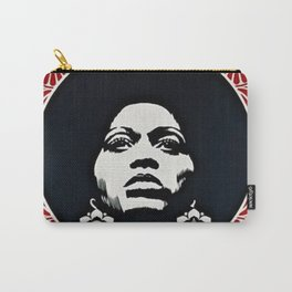 Angela Davis - Power & Equality - Power to the People - Red - African American Vintage Poster Carry-All Pouch
