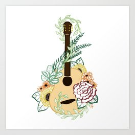 Acoustic Autumn Art Print
