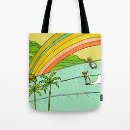 Surf Paradise Rainbow of Happiness Tote Bag