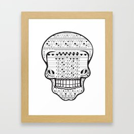B/W Skull 1 Framed Art Print