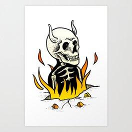 Burned 1 Art Print
