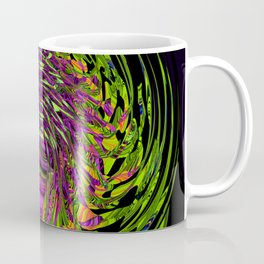 Green Spider In A Bubble - purple background Coffee Mug