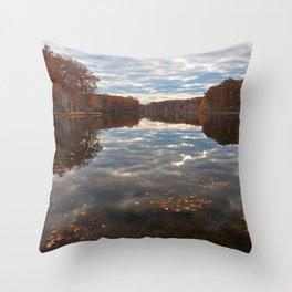 Seneca Fall Reflections Throw Pillow