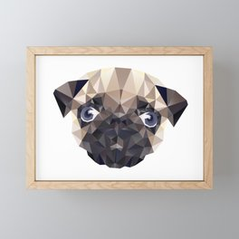 Pug Diamonds Framed Mini Art Print